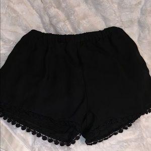 lace embellished brandy melville shorts